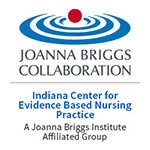Indiana Center for Evidence Based Nursing Practice Joanna Briggs Collaboration Logo